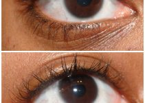 Clear Mascara – Before and After Applying Clear Mascara