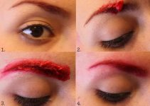 How to Dye Dyeing your Eyebrows Red