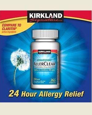 Kirkland AllerClear Loratadine 10 mg Antihistamine Tablets
