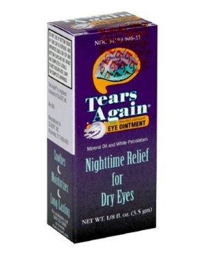 Tears Again Eye Ointment, Sterile Lubricant, Nighttime Relief for Dry Eyes