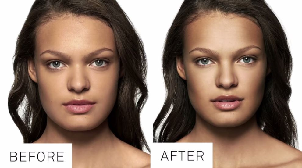 Makeup for square face - contouring